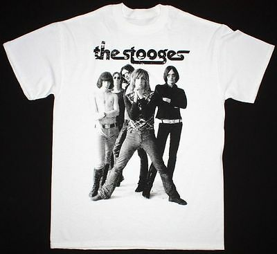 New Iggy And The Stooges Rock Band T-shirt Black Men Custom USA Size S 2XL