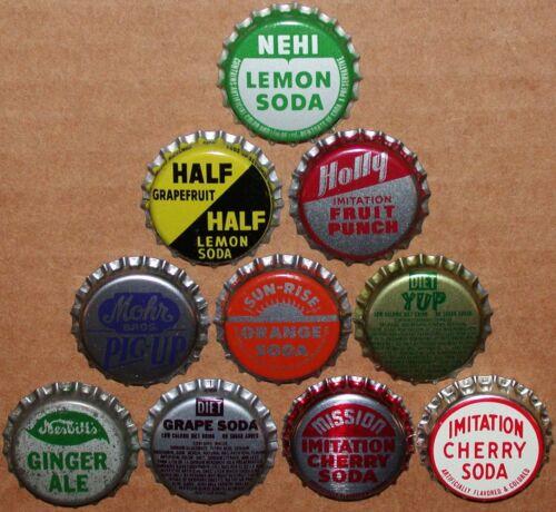 Vintage soda pop bottle caps Lot of 250 ALL UNUSED ORIGINALS over 75 different