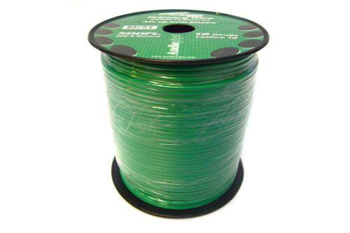 12 GAUGE 500/' GREEN Audiopipe REMOTE PRIMARY WIRE CAR AUDIO ELECTRONICS AUDIO