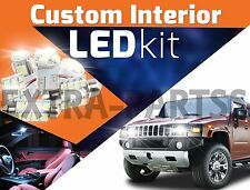 17pc Interior LED Light Bulbs Package Kit for 2003-2009 Hummer H2 ¦ White