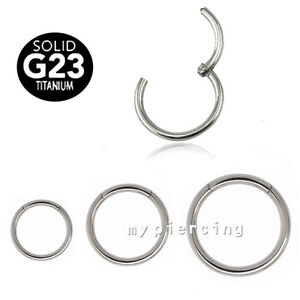 Solid-G23-Titanium-Seamless-Hinged-Segment-Ring-Hoop-Ear-Cartilage-Labret-Septum