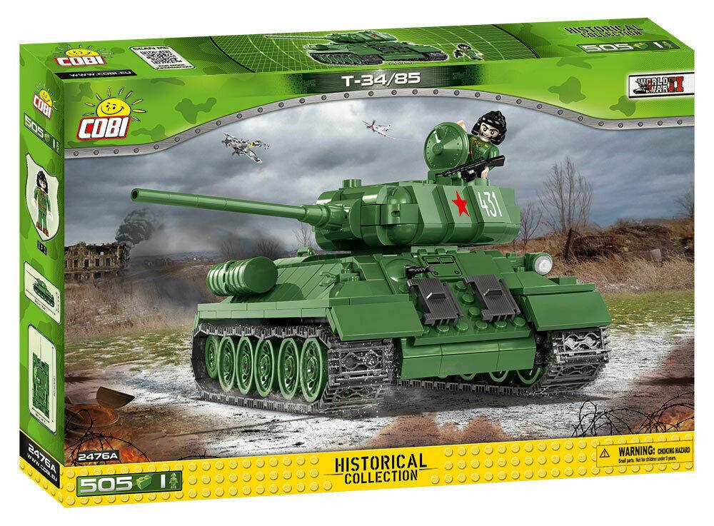 COBI 2476A T-34 85 Soviet Medium Tank - 505 pz - DISPONIBILITA' IMMEDIATA