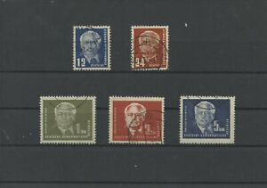 Germany-GDR-vintage-yearset-1950-Mi-251-255-Postmarked-Used-More-Sh-Shop-3