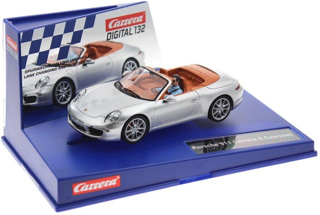 Carrera Digital 132 30773 30773 30773 Porsche 911 Carrera S Cabriolet Silber  | Elegante Und Stabile Verpackung  9596af
