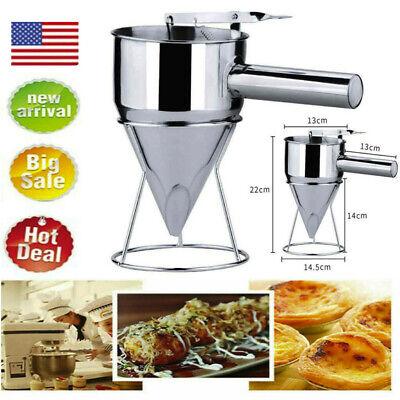 Pancake Batter Dispenser Stainless Steel Handheld Stirring Batter Separator CA