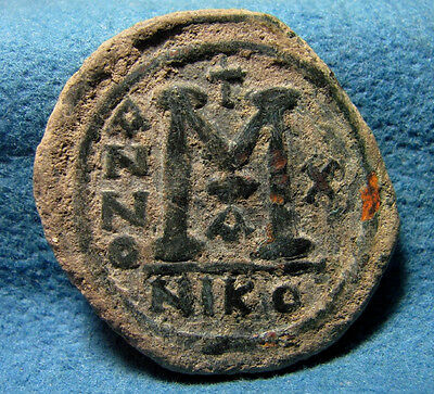 Elegant Appearance 1st Officina 565-578 Æ Follis Nicomedia Mint 574/5ad With Sophia Conscientious Justin Ii
