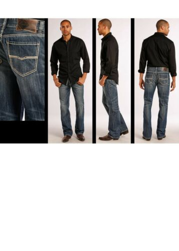Rock /& Roll Men/'s Double Barrel Relaxed Straight Leg Jeans M0S8553 SALE