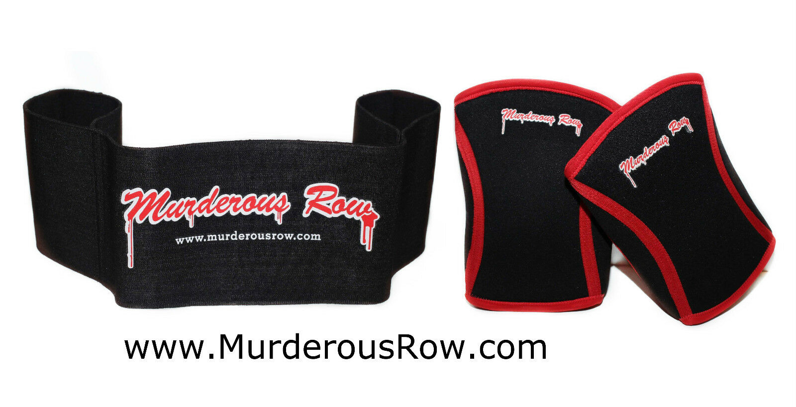 MURDEROUS ROW Bench Press Sling Shot (XL) + Hardcore Extreme Knee Sleeves