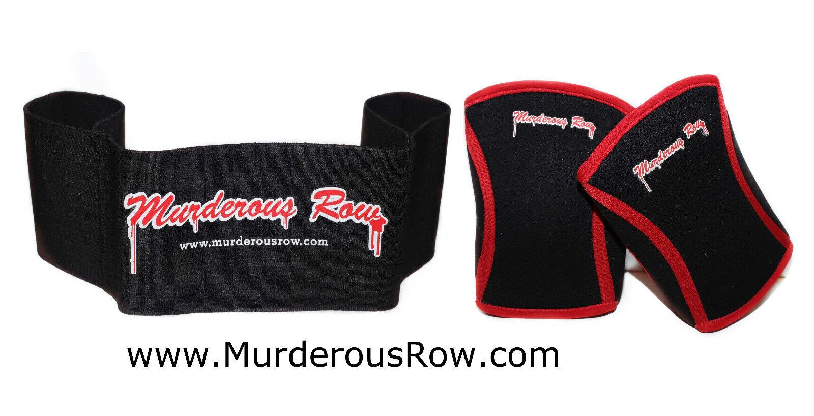 MURDEROUS ROW Bench Press Sling Shot 4XL  Hardcore Extreme Knee Sleeves