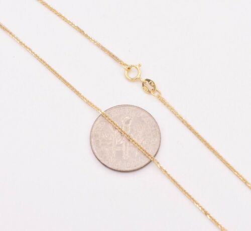"""1mm Square Franco Wheat Chain Ankle Bracelet Anklet Real 10K Yellow Gold 10/"""""""
