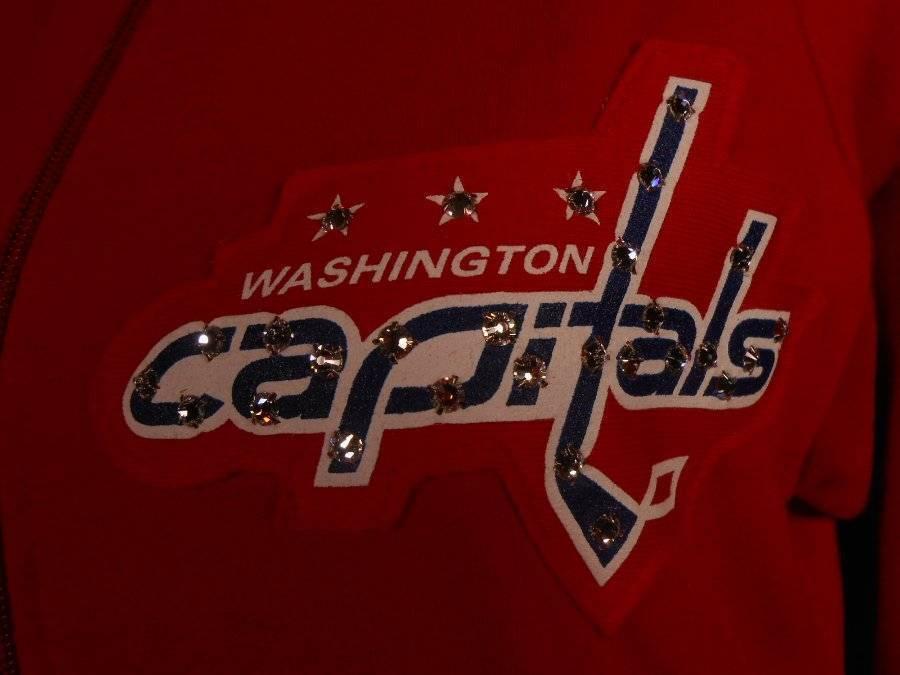 Beautiful Women's Medium NHL Majestic Threads Washington Capitals w  Swarovski