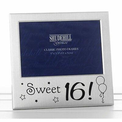 Happy Sweet 16th Birthday Charm Photo Frame Box Occasion Birthday Present Gifts