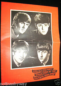 BEATLES-Concert-Booklet-Music-Blackpool-60s-Retro-Book-Gigg-Group-Tower-The-Who