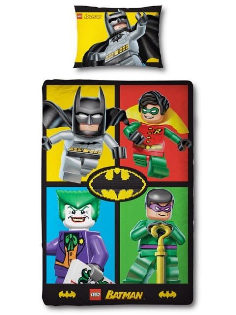 Lego Batman 'Cards' Single Duvet Cover Quilt Set
