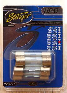 s l300 stinger se35 35amp agu gse glass incar audio fuses pack of 5