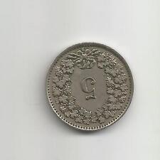 Switzerland Swiss Helvetia 1943 5 Rappen Five Cent Coin