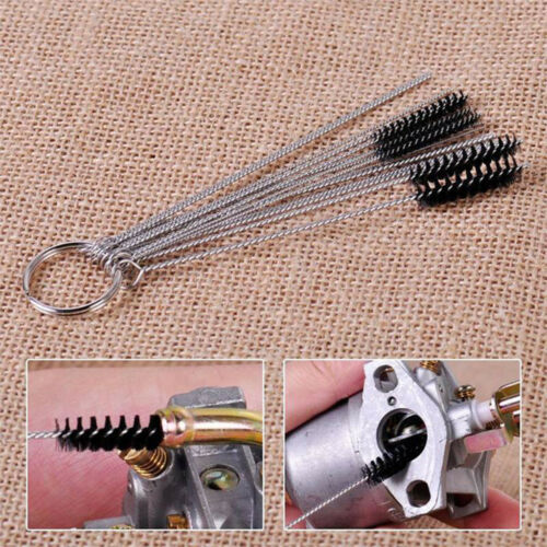 5//10pcs Carburetor Carbon Dirt Jet Cleaning Needles+Brushes for Car Motorcycle