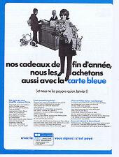 PUBLICITE ADVERTISING 074 1969 CARTE BLEUE vous signez : c'est payé