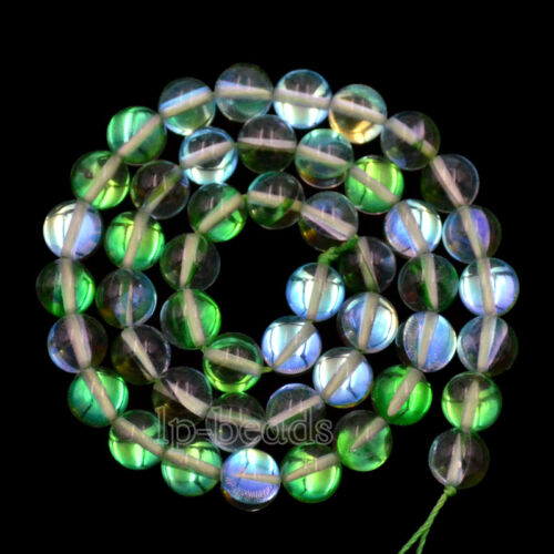 """Top Quality Crystal Glass Inside AB Round Loose Beads 6mm 8mm 10mm 15.5/"""""""