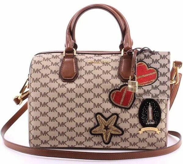 Michael Kors Patches Mercer Studio Duffle Bag Satchel Crossbody Handbag Tote NEW