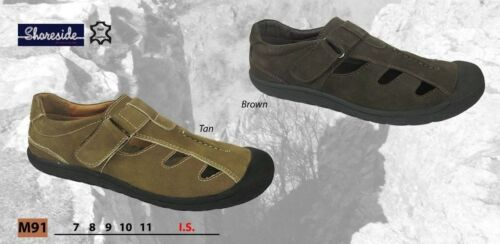 Holiday Shoes SHORESIDE Mens Back Leather Sandals Fun Beach Casual FREEPOST