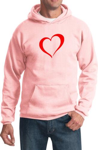 Mens Yoga Heart Outline Hoodie