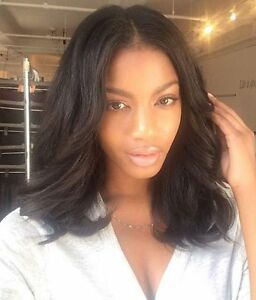 Short Bob Human Hair Full Lace Wigs African Americans Brazilian Lace Front 150%