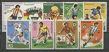Fútbol-WM 1982, soccer-paraguay - 3327-3335 ** mnh