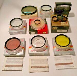 Lot-of-10-CAMERA-Lens-FILTERS-Quantaray-amp-Bower-amp-Sakar-amp-Crystal-Optics-CAMERA