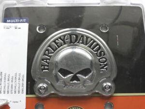 Harley-Davidson-Calavera-Flat-CROMO-madallon-Emblema-Respaldo-91718-02