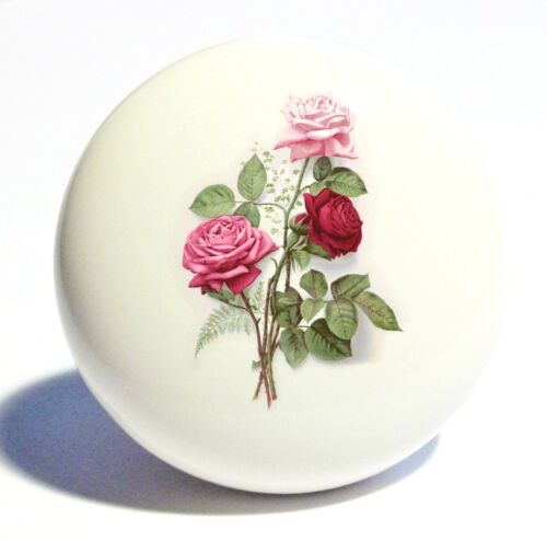 ROSES BOUQUET HOME DECOR CERAMIC KITCHEN  KNOB DRAWER CABINET PULL