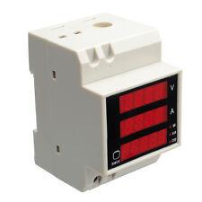 Ac80 300v 100a Digital Led Din Rail Volt Amp Watt Power Meter Ammeter Voltmeter