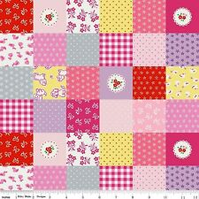 BTY Penny Rose, Quilting, Sewing Fabric STRAWBERRY BISCUIT Patchwork, PINK