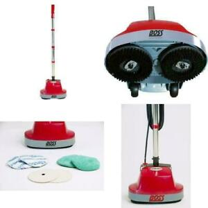 Mini Floor Scrubber Machine Buffers Hardwood Tile Carpet