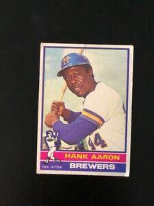 Details About 1976 Topps 550 Hank Aaron Milwaukee Brewers Des Hitter Baseball Card 550 54 75