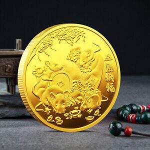 2020-Ratte-Jahr-Herausforderung-Muenze-Chinesisches-Sternzeichen-Andenkenmuenze
