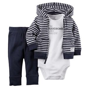 6eb583af7c1 3pcs Infant Baby Boy Winter Coat+Romper+Pants Outfits Toddler Warm ...