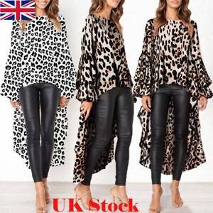 0a2644d578e Image is loading Fashion-Women-Leopard-Print-Shirt-Top-Ladies-Autumn-