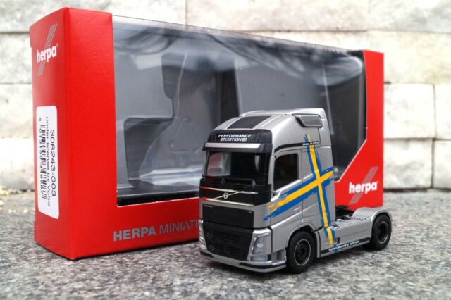 Herpa LKW Volvo FH4 Glob//Aerop XL SZM Performance Line silber 308243