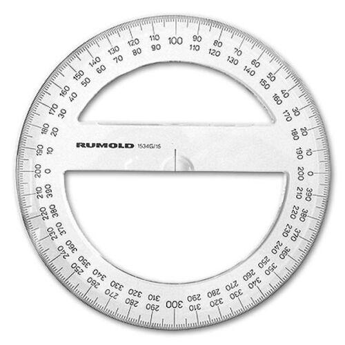 Präzisions-Vollkreis-Winkelmesser Gon-Teilung Rumold 1534G-15