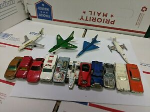 Vintage-Hot-Wheels-Matchbox-Husky-Ertl-Die-Cast-Toy-Cars-and-Planes-Lot-of-15