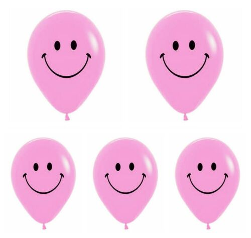 """100 x HAPPY SMILEY YELLOW 12/"""" FACE BALLOONS Latex Rubber Helium Party Decoration"""