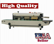 Horizontal Band Sealer With Emboss Printer Stainless Steel Continuous Seal Bag