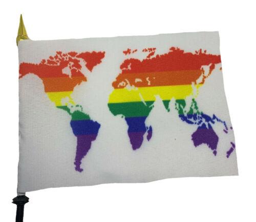LGBTQ Pride Hand Flags LGBT Rainbow Gay Trans Queer Bi Bear Progress Asexual