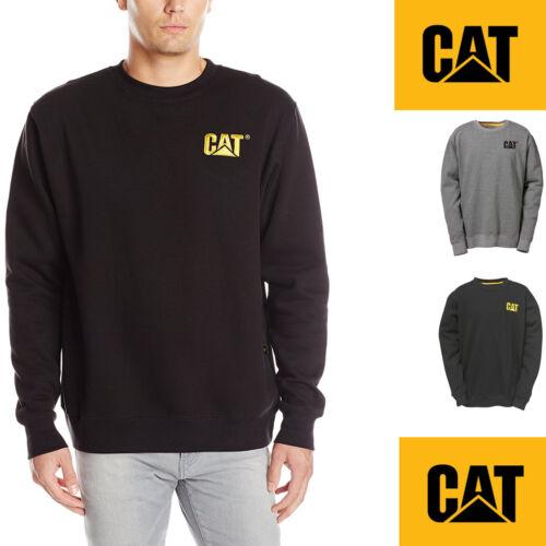 Caterpillar Mens Crew Neck Sweatshirt Long Sleeve Top Black Grey S XXL