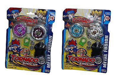 Spielzeug Tornado mit 2 Metall Kreisel Kampfkreisel Starter Set für Beyblade Top