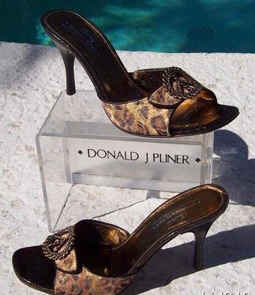 Donald Pliner Couture De francés Tapiz De Couture Cuero Nuevo Zapato De Diapositivas De Leopardo 10.5  325 d508ce