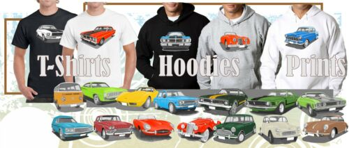 CLASSIC 66 XP FALCON COUPE ILLUSTRATED T-SHIRT MUSCLE RETRO SPORTS CAR