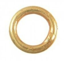FH64G - 5 - 24k Gold over Sterling Vermeil 7mm OD 5mm ID Closed Rings 20 gauge