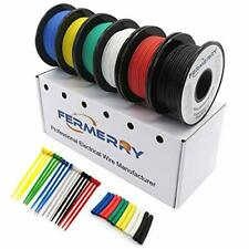 Fermerry 22awg Stranded Wire Electric Fence Hook Up Wire Kit 6 Colors 10ft Each